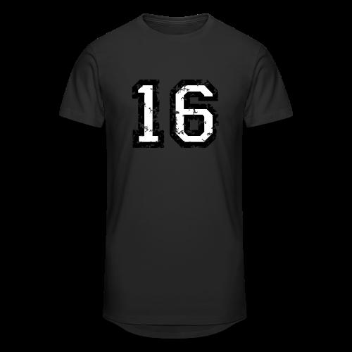 Nummer 16 T-Shirt (Heren Rot) - Männer Urban Longshirt