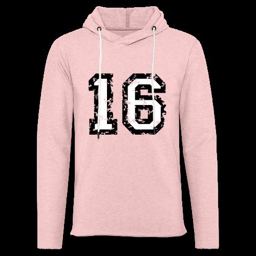 Nummer 16 T-Shirt (Heren Rot) - Leichtes Kapuzensweatshirt Unisex