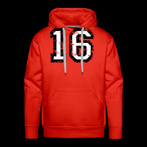 Nummer 16 T-Shirt (Heren Rot) - Männer Premium Hoodie