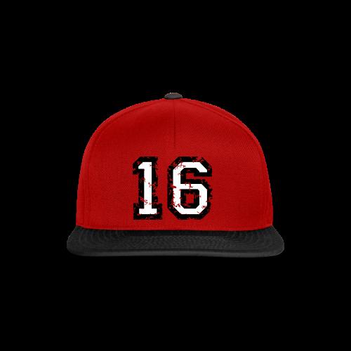 Nummer 16 T-Shirt (Heren Rot) - Snapback Cap