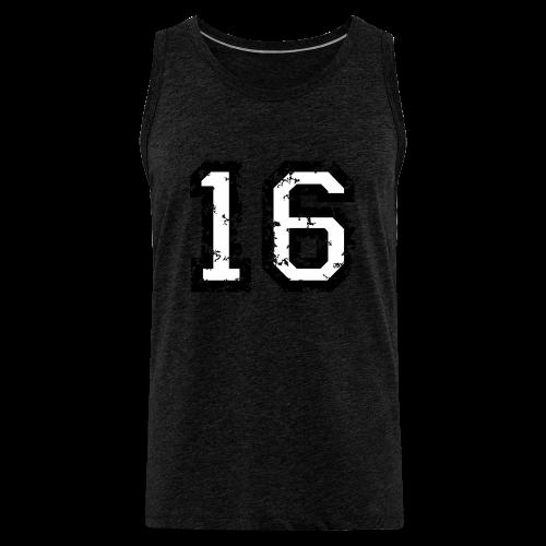 Nummer 16 T-Shirt (Heren Rot) - Männer Premium Tank Top