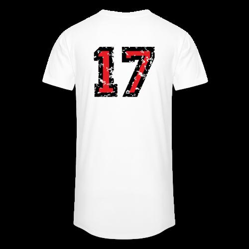 Rückennummer 17 T-Shirt (Herren Grau) - Männer Urban Longshirt