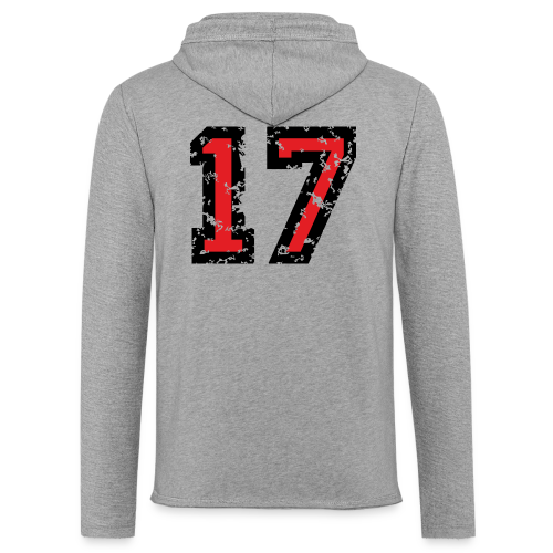 Rückennummer 17 T-Shirt (Herren Grau) - Leichtes Kapuzensweatshirt Unisex
