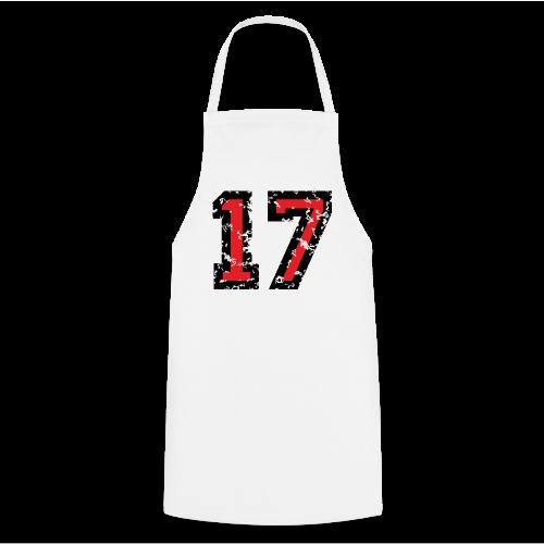 Rückennummer 17 T-Shirt (Herren Grau) - Kochschürze