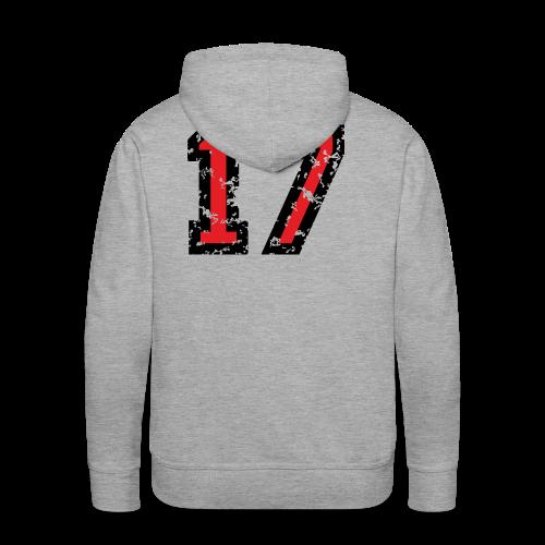 Rückennummer 17 T-Shirt (Herren Grau) - Männer Premium Hoodie