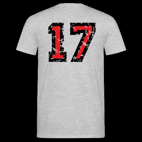 Rückennummer 17 T-Shirt (Herren Grau) - Männer T-Shirt