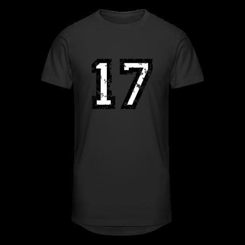 Nummer 17 T-Shirt (Herren Rot) - Männer Urban Longshirt