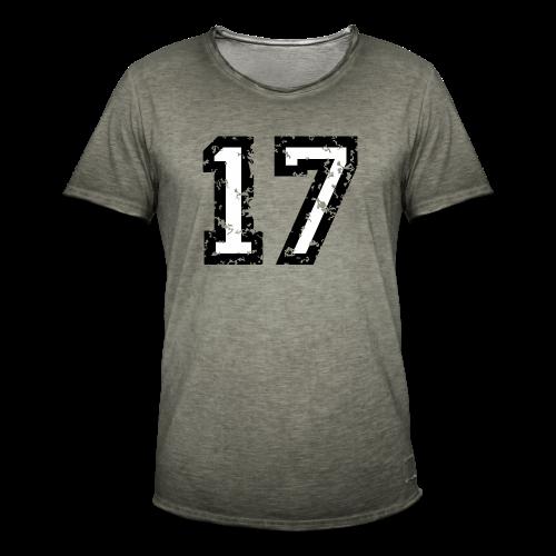 Nummer 17 T-Shirt (Herren Rot) - Männer Vintage T-Shirt