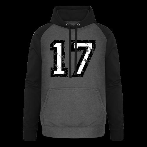 Nummer 17 T-Shirt (Herren Rot) - Unisex Baseball Hoodie