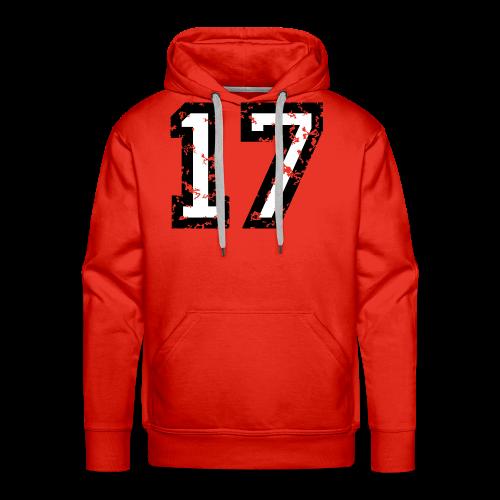 Nummer 17 T-Shirt (Herren Rot) - Männer Premium Hoodie