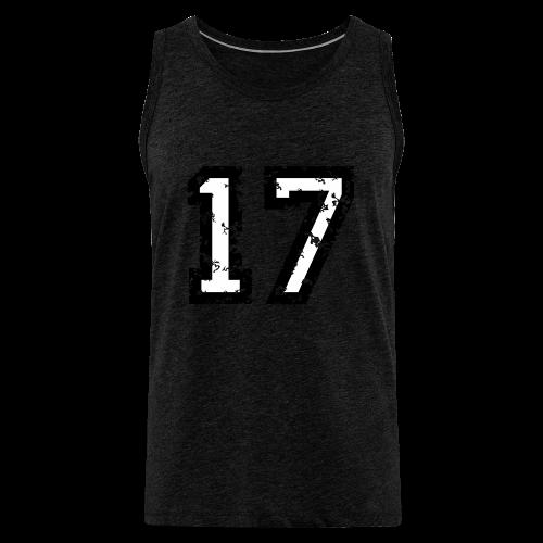 Nummer 17 T-Shirt (Herren Rot) - Männer Premium Tank Top