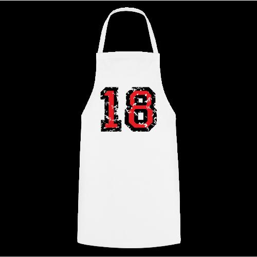 Rückennummer 18 T-Shirt (Herren Grau) - Kochschürze