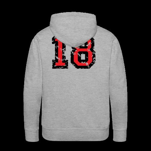 Rückennummer 18 T-Shirt (Herren Grau) - Männer Premium Hoodie