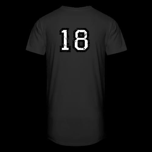 Rückennummer 18 T-Shirt (Damen Rot) - Männer Urban Longshirt