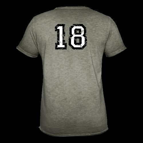 Rückennummer 18 T-Shirt (Damen Rot) - Männer Vintage T-Shirt
