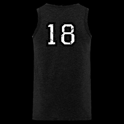 Rückennummer 18 T-Shirt (Damen Rot) - Männer Premium Tank Top