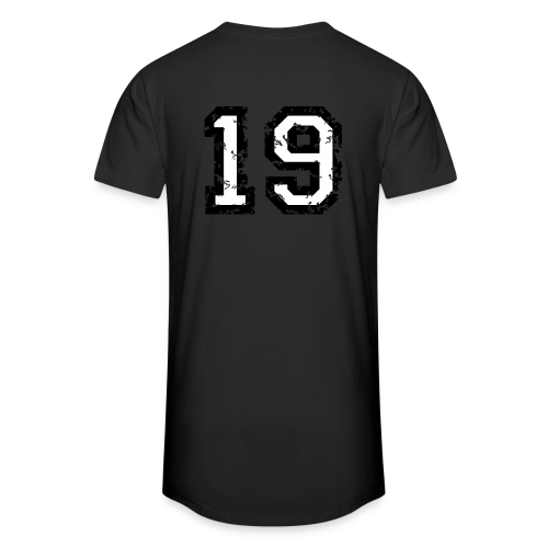 Rückennummer 19 T-Shirt (Herren Rot) - Männer Urban Longshirt