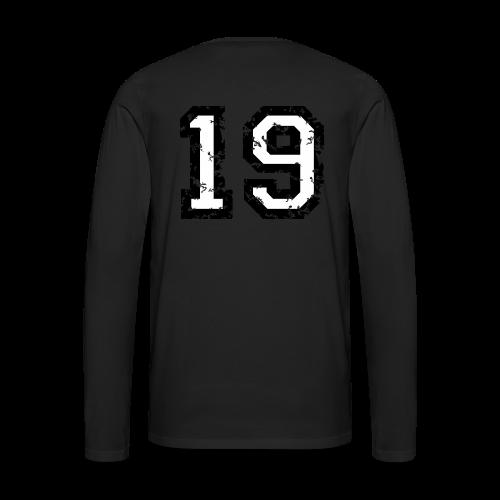 Rückennummer 19 T-Shirt (Herren Rot) - Männer Premium Langarmshirt