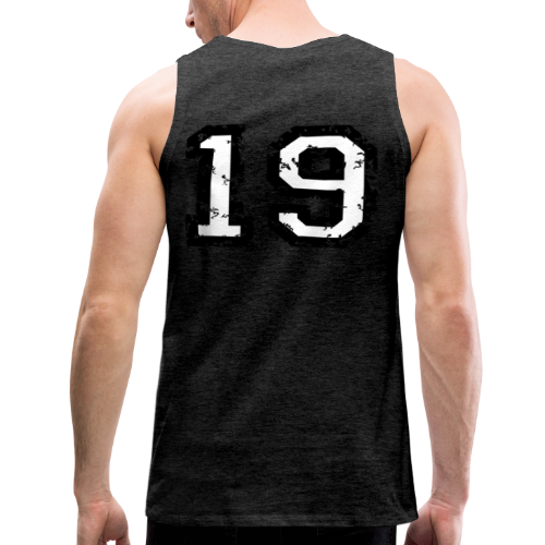 Rückennummer 19 T-Shirt (Herren Rot) - Männer Premium Tank Top