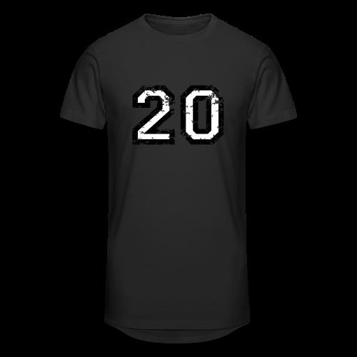 Nummer 20 T-Shirt (Herren Rot) - Männer Urban Longshirt