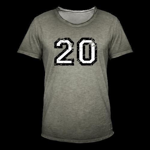 Nummer 20 T-Shirt (Herren Rot) - Männer Vintage T-Shirt