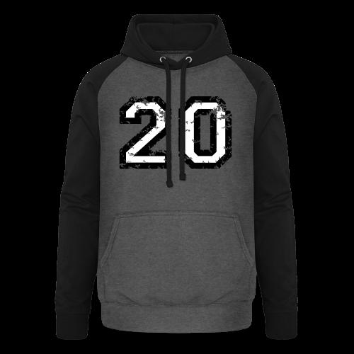 Nummer 20 T-Shirt (Herren Rot) - Unisex Baseball Hoodie