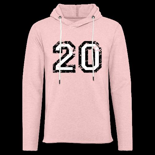 Nummer 20 T-Shirt (Herren Rot) - Leichtes Kapuzensweatshirt Unisex