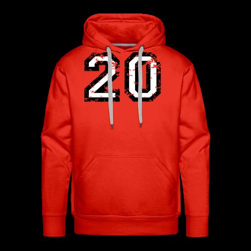 Nummer 20 T-Shirt (Herren Rot) - Männer Premium Hoodie