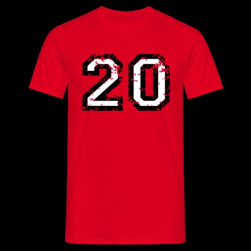 Nummer 20 T-Shirt (Herren Rot) - Männer T-Shirt