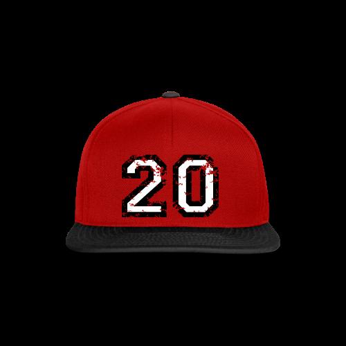 Nummer 20 T-Shirt (Herren Rot) - Snapback Cap