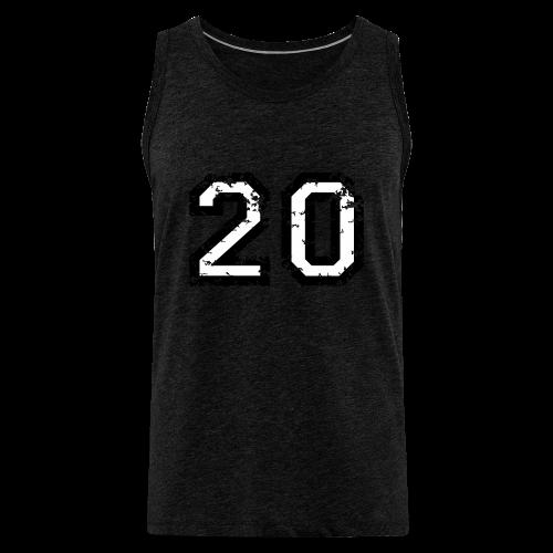 Nummer 20 T-Shirt (Herren Rot) - Männer Premium Tank Top
