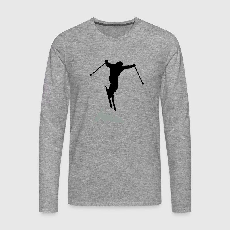downhill ski mountain Long sleeve shirts - Men's Premium Longsleeve Shirt