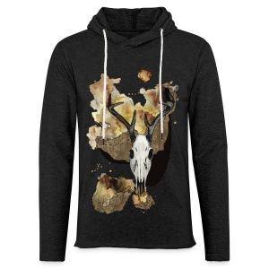 Hirsch Schädel Aquarell auf kurzarm Shirt von carographic, Carolyn Mielke - Leichtes Kapuzensweatshirt Unisex