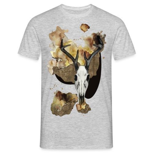 Hirsch Schädel Aquarell auf kurzarm Shirt von carographic, Carolyn Mielke - Männer T-Shirt
