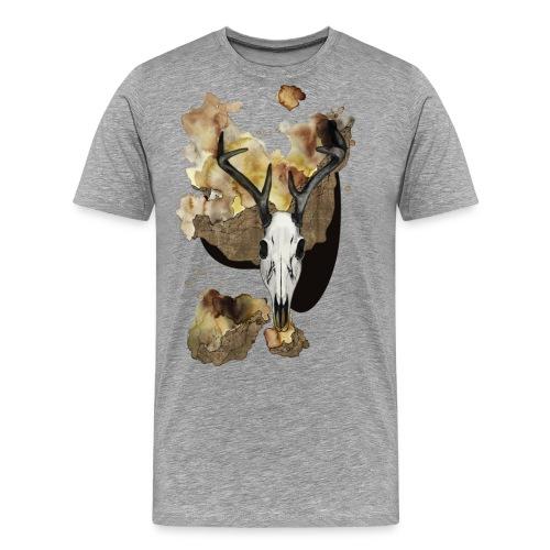 Hirsch Schädel Aquarell auf kurzarm Shirt von carographic, Carolyn Mielke - Männer Premium T-Shirt