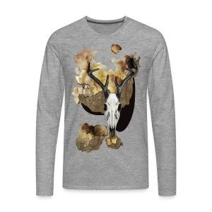 Hirsch Schädel Aquarell auf kurzarm Shirt von carographic, Carolyn Mielke - Männer Premium Langarmshirt