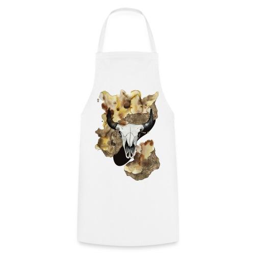 Büffel Schädel Aquarell auf kurzarm Shirt von carographic, Carolyn Mielke - Kochschürze
