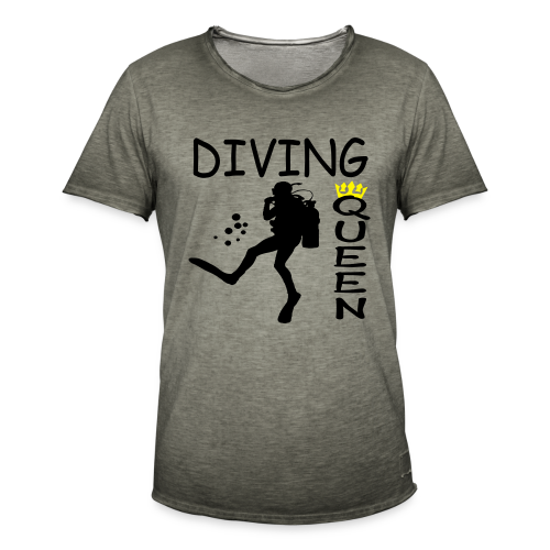 Diving Queen - Männer Vintage T-Shirt