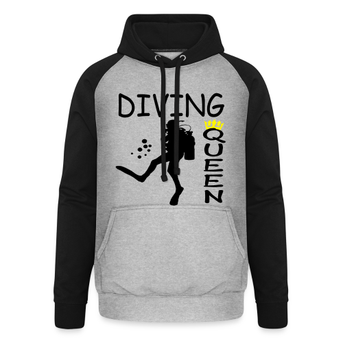 Diving Queen - Unisex Baseball Hoodie