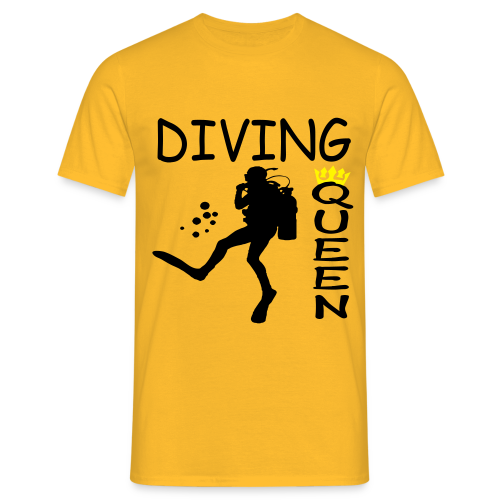 Diving Queen - Männer T-Shirt