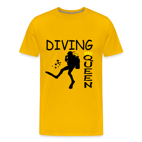 Diving Queen - Männer Premium T-Shirt