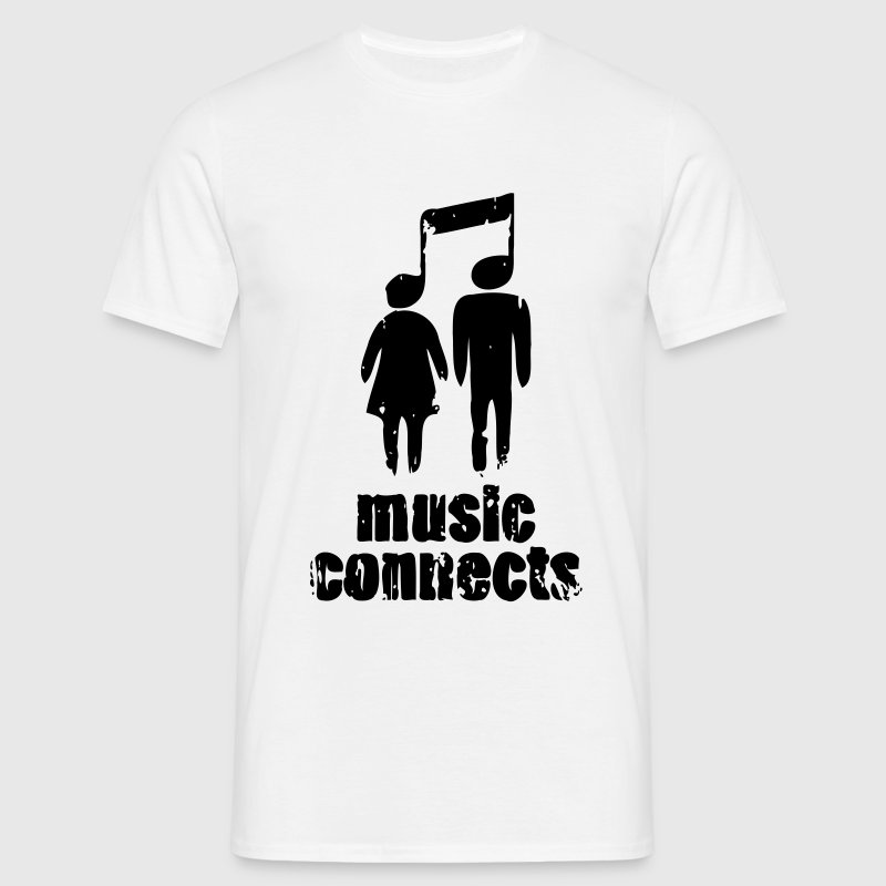 Music Connects T-Shirts - Männer T-Shirt