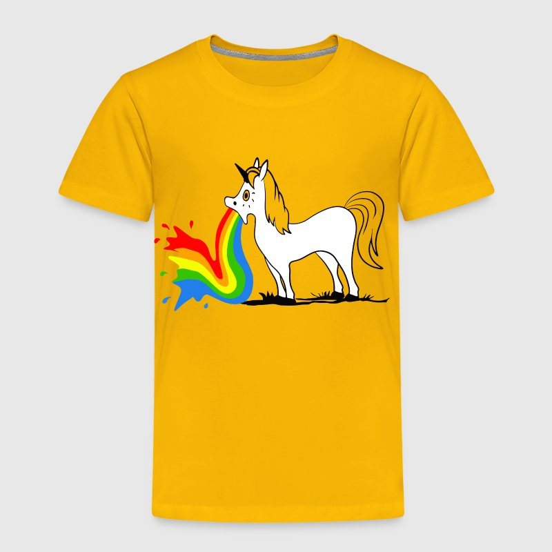 Puking Unicorn T-shirts - Børne premium T-shirt