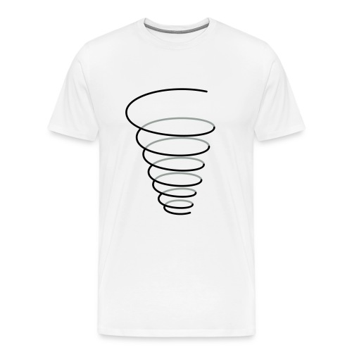 Symbol Fülle Trichter Spirale - Männer Premium T-Shirt