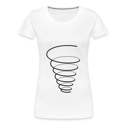 Symbol Fülle Trichter Spirale - Frauen Premium T-Shirt