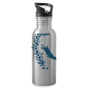 sea otter kelp forest california see meer ocean T-Shirts - Trinkflasche