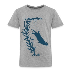 sea otter kelp forest california see meer ocean T-Shirts - Kinder Premium T-Shirt