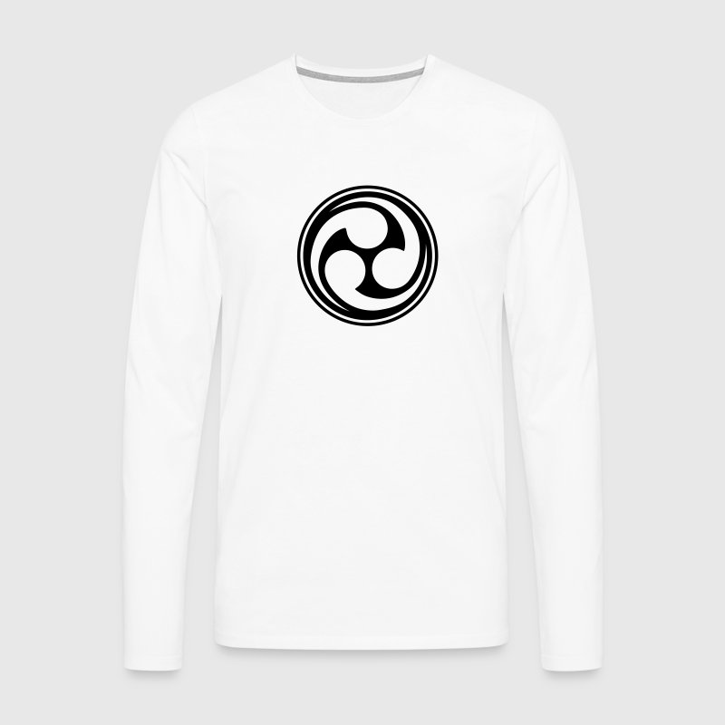 Shinto Trinity Japan Symbol Circle Kanji Triskele  Tee shirts manches longues - T-shirt manches longues Premium Homme