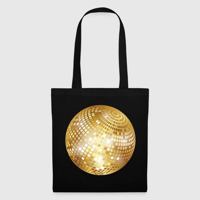 Disco Ball / Mirror Glitter (Gold, PNG) Tote Bag - Tote Bag