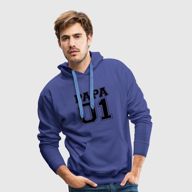 Papa numéro 01 Sweat-shirts - Sweat-shirt à capuche Premium pour hommes